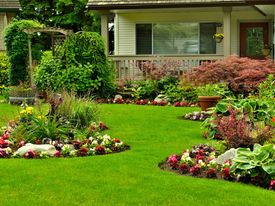 Green landscaping in La Cañada Flintridge